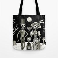 family Tote Bags featuring Family Portrait of the Passed by Jon MacNair