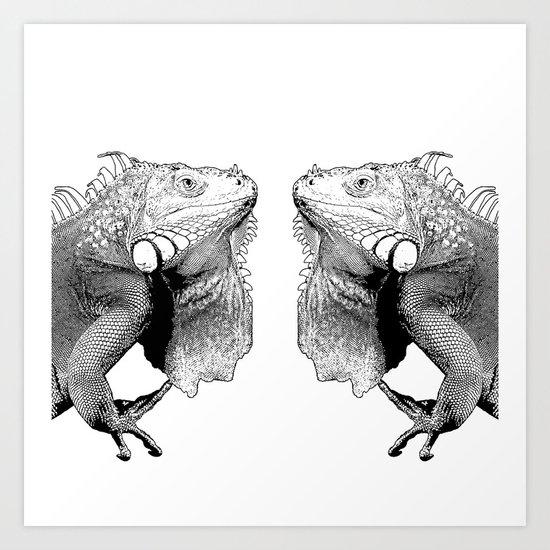Iguanas (animals) Art Print