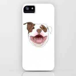 White/Brown Pitbull iPhone Case