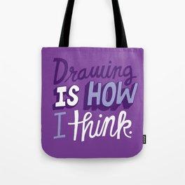 How I Think Tote Bag