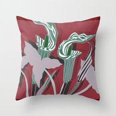 Arum Lilies IV. Throw Pillow