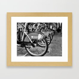 Barclays. Framed Art Print