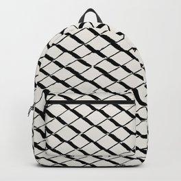 Modern Diamond Lattice 2 Black on Light Gray Backpack