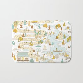 Over the River and Through the Woods Bath Mat