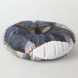 Chimpanzee 002 Floor Pillow