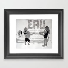 Agua - Eau - Water Framed Art Print