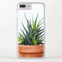 Zebra Plant Clear iPhone Case