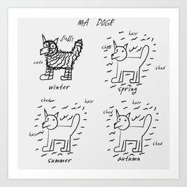 doge Art Print