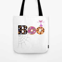 Halloween Boo Text Cute Design Great Gift Tote Bag