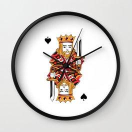 Poker card game Skat poker evening King diamond cards Wall Clock