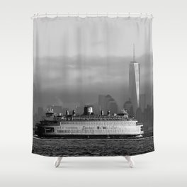 Ferry & Freedom Tower Shower Curtain