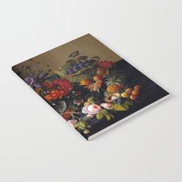 Severin Roesen Still Life, Flowers and Fruit Notebook