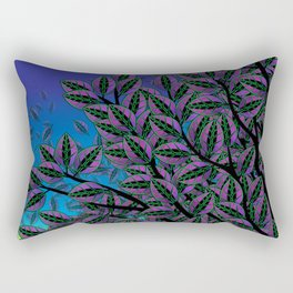 Dusk in The Forest of Glass Rectangular Pillow