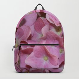 Pink Hydrangea Flowers Background Backpack