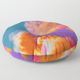 Colorful clouds in the sky Floor Pillow