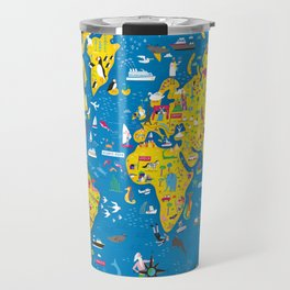 Big Fun World Map Travel Mug