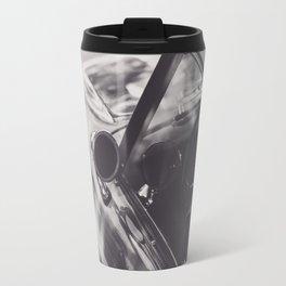 Triumph spitfire, black & white photography, Peter Lindbergh style, english sports car Travel Mug
