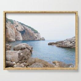 Summer landscapes around Costa Brava, impressive cliffs and coastlines. Serving Tray