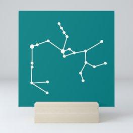 Sagittarius (White & Teal) Mini Art Print