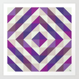 Patchwork Purples Art Print