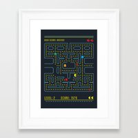 pacman Framed Art Prints featuring Pacman by Virbia