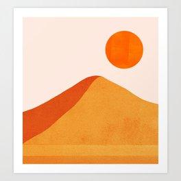 Abstraction_Mountains_SUN_Minimalism_01 Art Print