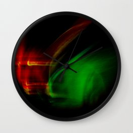 Green on Red Wall Clock