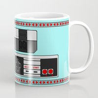 video game Mugs featuring Video Game Lover : NES by The Geek Inside Me