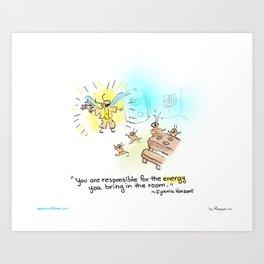 Firefly - Light up the room Art Print