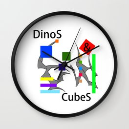 Seracusso - DinoS & CubeS Wall Clock