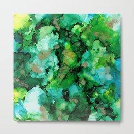 Abstractus Ink Green Metal Print