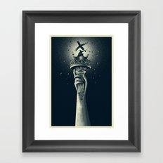 Mutant Liberty Framed Art Print