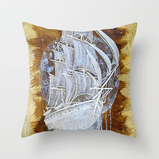 """Man-O-War III"" Throw Pillow"