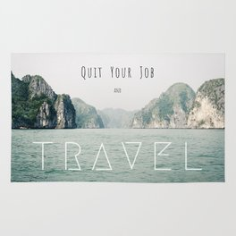 Quit Your Job and Travel Rug