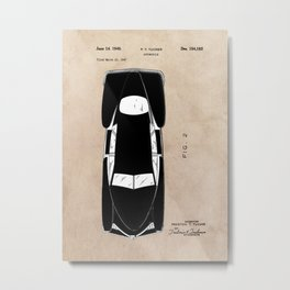 patent Tucker Automobile Metal Print