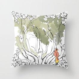L'anima dell'albero 3 Throw Pillow