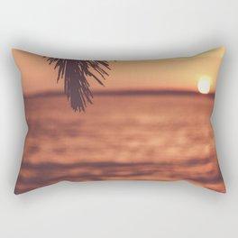 Warm Tropical Summer Sunset (Color) Rectangular Pillow
