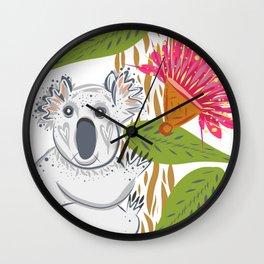 Koala animal nature lover happy print Wall Clock