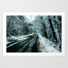 Road to Snowwhere Art Print