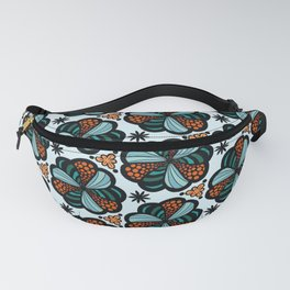 Cookies and Candy Turquoise & Orange Fanny Pack