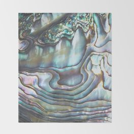 Shimmery Pastel Abalone Shell Throw Blanket
