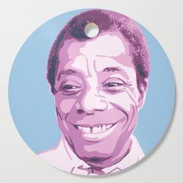 James Baldwin Portrait Blue Purple Cutting Board