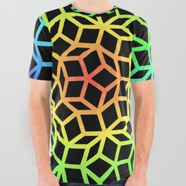Fractal Lattice All Over Graphic Tee