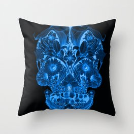 OG Floral Skull II Throw Pillow