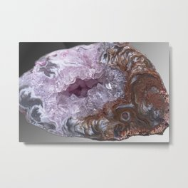 Amethyst Geode Metal Print