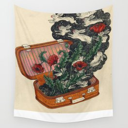 Hares in Snares Wall Tapestry