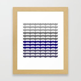 Ombre Abstract Pattern Framed Art Print