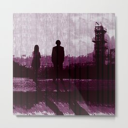 Watching the Refinery Metal Print