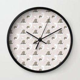 Moonlight teddy bear Wall Clock