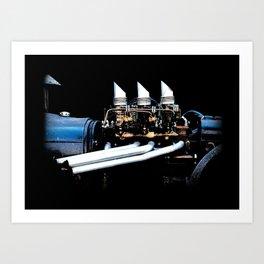 Rat Rod Motor Art Print